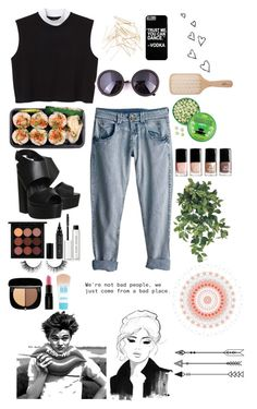 """~Hello, my name is...~"" by little-miss-rae-rae ❤ liked on Polyvore featuring Monki, Rip Curl, Philip Kingsley, Office, H&M, MAC Cosmetics, CARGO, Bobbi Brown Cosmetics, Rimini and Smashbox"