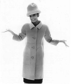 Audrey Hepburn in coat by Givenchy, 1963.
