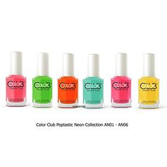 Club Poptastic Pastel Neon Collection Lacquer Set of 6 Color AN01 - AN06 * You can get additional details at the image link.