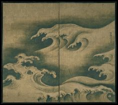 Artist: Ogata Kōrin (Japanese, 1658–1716) Period: Edo period (1615–1868) Date: ca. 1704–9 Culture: Japan Medium: Two-panel folding screen; ink, color, and gold leaf on paper