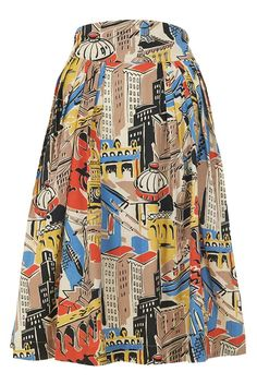 The Florence Skirt by Emily and Fin features a stunning print, inspired by the Italian city. Next day delivery.