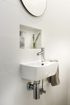 This basin is perfect for a small powder room!