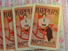 Vintage Playing Cards Harpers September 28 by vintagemarbles, $4.00