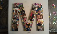Cardboard Letter w/ Pictures of my best friend and From 8th grade to the present (: fun to make for birthday!