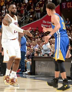 GENERATIONAL RESPECT. LeBron James, Steph Curry