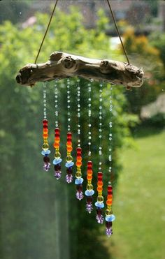 Driftwood & Glass Bead Suncatcher