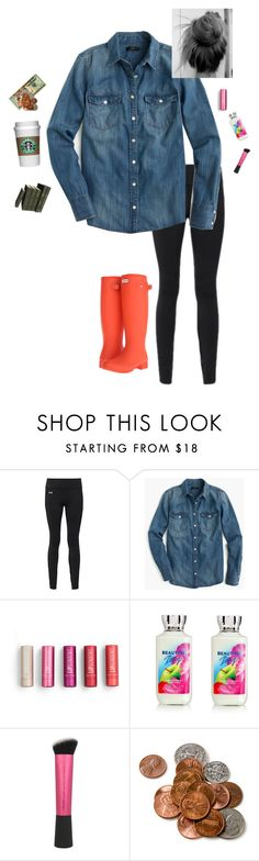 """{I've been hiding all this doubt and insecurity}"" by amaizylife ❤ liked on Polyvore featuring Under Armour, J.Crew, Twenty, Hunter and maizyscampcontest"