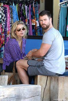 Chris Hemsworth and Elsa Pataky in Australia July 2016 | POPSUGAR Celebrity