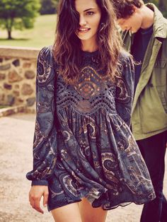 Free People Sweet Thing Printed Tunic at Free People Clothing Boutique
