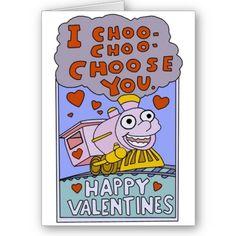 I Choo Choo Choose You Valentines Day Greeting Card