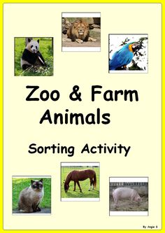 Zoo and Farm Animals Sorting Activity, for more resources follow https://www.pinterest.com/angelajuvic/autism-special-education-resources-angie-s-tpt-sto/