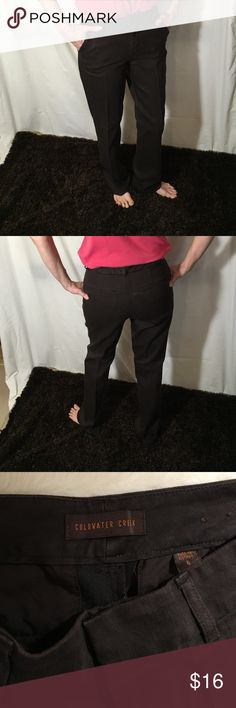 Coldwater Creek Brown denim pants Not faded. Dry cleaned like new condition Coldwater Creek Jeans