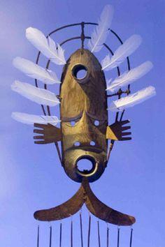 "Tomanik ""wind-maker"" mask, Yup'ik, 19th century"