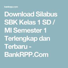 Download Silabus SBK Kelas 1 SD / MI Semester 1 Terlengkap dan Terbaru - BankRPP.Com