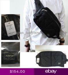 89585f81cf0 YOSHIDA PORTER TANKER 2 way waist shoulder bag Black Made in Japan 622-08302