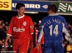 Robbie Fowler (Liverpool) & Graeme Le Saux (Chelsea)