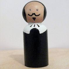 Shakespeare Holzpuppe Peg Puppenhaus Art Doll von PeggiesPegDolls