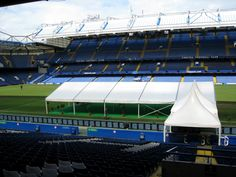 Our Marquee at Stamford Bridge. Home of Chelsea Football Club. Maybe the best thing the pitch has seen in a while.