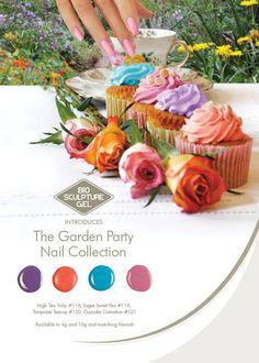 The Garden Party Collection Bio Sculpture Nails, Mobile Nails, Sculpture Garden, Party Nails, Mani Pedi, Summer Colors, Nail Tech, Ranges, Nail Ideas