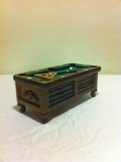Vintage Enesco Coaster Set Pool Table Man Cave Bar Billiard