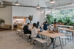 Collaborative space at The Secret Little Agency's Singapore office