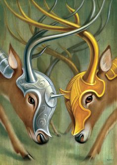 """<b><a href=""""http://www.chrisbuzelli.com/"""" target=""""_blank"""">Chris Buzelli</a> is really good at weaving animals into his work.</b> Here are some of his great oil paintings. (via <a href=""""http://www.mymodernmet.com/profiles/blogs/chris-buzelli-strength-in-numbers-oil-paintings/%3Emymodernmet.com%3C/a%3E"""" target=""""_blank"""">mymodernmet.com</a>)"""