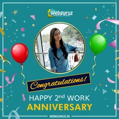 Many Congratulations, Miss. Shweta on completion of the year in Webguruz. The energy and vibe you bring along with your positive attitude make us. Work Anniversary, Online Digital Marketing, Positive Attitude, Wish, Blessed, Congratulations, Web Design, Bring It On, Branding