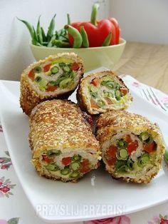 Kolorowe roladki Healthy Recepies, Pork Dishes, Food Humor, Special Recipes, Savoury Dishes, International Recipes, Food Photo, Food Inspiration, Good Food