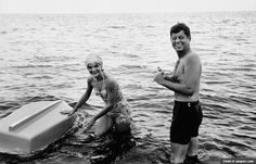 At Home on the Water Jack and Jackie in Hyannis Port, Mass., taking a break from the 1960 presidential campaign. JFK loved the water and was a superb swimmer and sailor. His legend as a hero began with bravery at sea on PT-109 during World War II.
