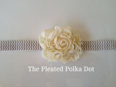 Shabby Rose Flower in Blush or Golden Ivory by ThePleatedPolkaDot, $6.00