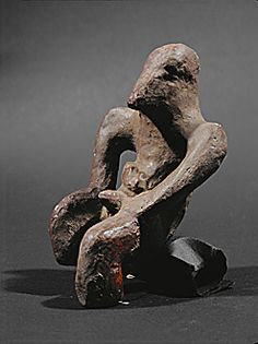 Idol with phallus. Terracotta From Fafos I site, Kosovska Mitrovica, Kosovo Vinca-Plocnik Culture, Neolithic, 5th millennium BCE.