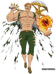 nanatsu no taizai  Escanor o leão do orgulho