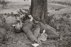 German soldier killed during a meal.