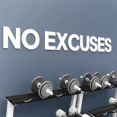 No Excuses Gym Decor Apply this No Excuses Gym Decor in any flat surface (walls, windows, etc). If you are looking for a piece of art in your Gym wall Gym Decor, Wall Art Decor, Indoor Gym, Floor Decal, Blue Tiles, Decorative Tile, Kitchen Tiles, Modern Decor, Wall Decals