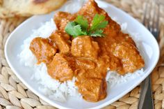 Indian Butter Chicken        We eat our fare share of Indian-inspired cuisine around here. Not only are the recipes usually fairly quick, but saucy chicken and rice is right up my family's eating alley. For the record, I usually make enough modifications and changes to blow the recipes right out of the running for ethnic authenticity, but despite that, the meals still taste fantastic and my toddlers don't know the difference between true-blue-traditional or mom's-shortcu...