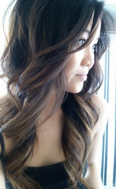 Dark ombre - love how it is highlighted in rather than dip-dyed