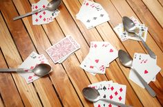 How to Play Spoons (Card Game) in 8 Steps ~ I LOVED playing this game as a kid!  :)