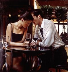 Rob Hefferan is a figurative oil painting artist who is known for his realistic paintings that portrays romance, wedding scenes and many more. Romance And Love, Romantic Love, Romantic Evening, Bed Romance, Romantic Photos, Romantic Moments, Romantic Couples, Beautiful Couple, Beautiful Moments