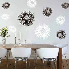 Spiky Wall Decals & Wall Art From Trendy Wall Designs,  As an accent wall?