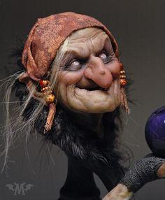 """The Spell"" art doll Polymer Clay Dolls, Arte Horror, Witch Art, Maquillage Halloween, Sculpture Clay, Magical Creatures, Halloween Art, Beautiful Dolls, Art Dolls"