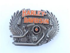 lots of 'tude on this #Vintage #HarleyDavidson Belt Buckle available at #VillaCollezione #Etsy, $82.00