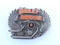 Aktiv Harley Davidson Original Buckle Gürtelschnalle Hd Vintage 1 Kleidung & Accessoires
