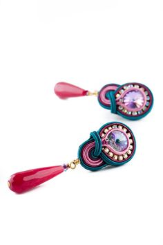 Soutache earrings by Mabibijoux on Etsy