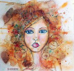 Bloom Girl Design Team: Mixed Media Portrait Paintings with Lisa Novogrodski
