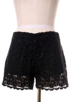 Beloved Lace Shorts in Black - Retro, Indie and Unique Fashion