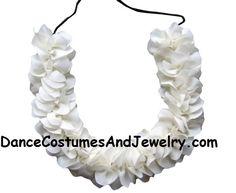 www.DanceCostumesAndJewelry.com - Cloth flower string super soft white, $ 2.20 (http://www.dancecostumesandjewelry.com/cloth-flower-super-soft-white-wt88/)