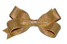 Medium Gold Bow  www.thepinkbow.com