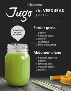 Jugo para perder grasa by habitos.mx