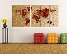 Canvas prints add a unique touch to your home. Modern, stylish and unique design will be the most special piece of your decor. Especially for those who like abstract works, black and white acrylic painting can be prepared in desired sizes  Push Pin world map wall art canvas print, extra large travel map wall art, push pin world map canvas print for large wall No:6S17  i designed the watercolor map on photoshop. you will receive high resulation canvas print   ◆ GALLERY WRAPPED CANVASES We…