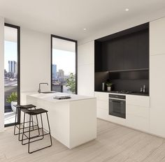 // A CLASSIC little number by ;) LOVE those floors sleek joinery :) Team DS. X by designstuff_group Kitchen Decor, Kitchen Inspirations, Home Interior Design, Interior Design Kitchen, Simple Kitchen Design, Simple Kitchen, Minimalist Kitchen, Australian Interior Design, Contemporary Kitchen